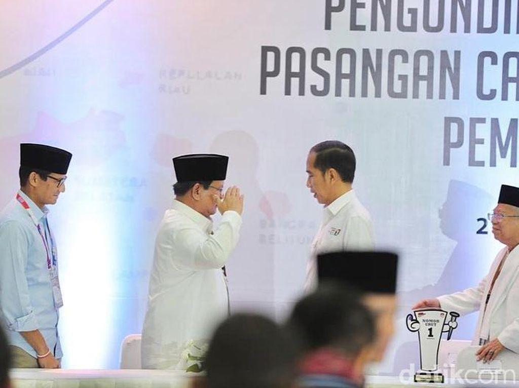 Head to Head Capres Survei Indikator: Jokowi 57,0%, Prabowo 31,3%