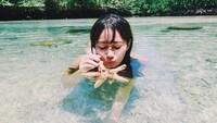 Ada yang tertarik mengunjungi Pulau Derawan seperti Ratu Felisha? Foto: Instagram Ratu Felisha
