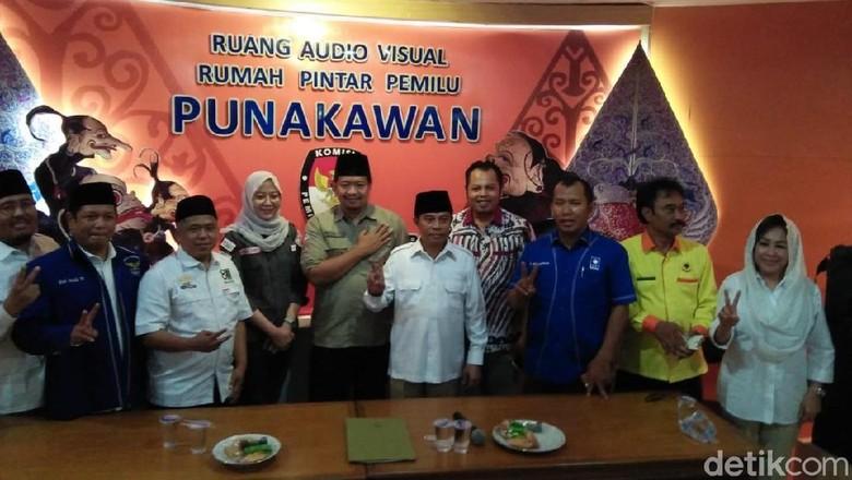 Daftar ke KPU, Timses Prabowo-Sandi Jatim Diisi 2 Pensiunan Jenderal