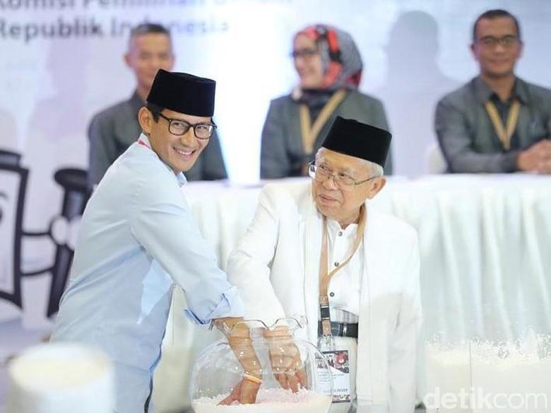 BPN Prabowo: Sandiaga Tak Khawatir Maruf Bawa Ayat di Panggung Debat