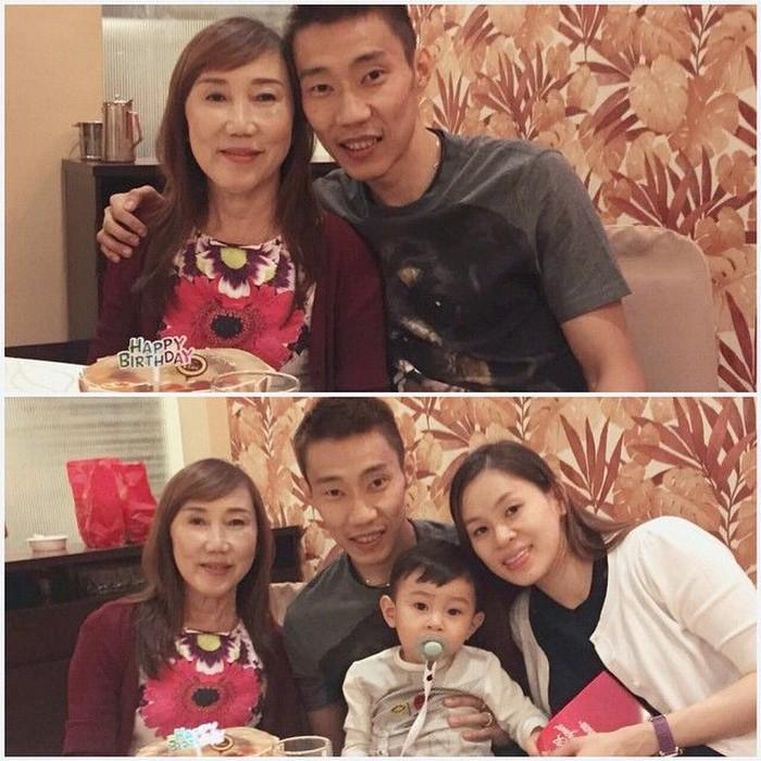 Di sela kesibukan, Lee masih sempat merayakan hari ulang tahun ibunya Khor Kim Choi. Lee saat ini dilatih mantan atlet bulu tangkis Indonesia Hendrawan.(instagram/leechongweiofficial)