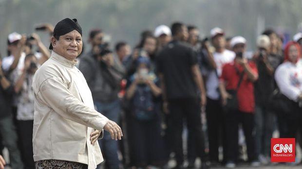 Capres Prabowo Subianto, di Monas, Jakarta (23/9).