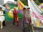 Saat Karakter Superhero Ramaikan Deklarasi Kampanye Damai di Monas
