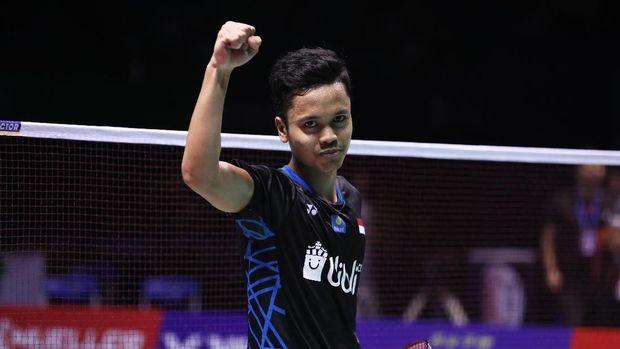 Anthony Ginting kalahkan Wang Tzu Wei di semifinal Australia Terbuka 2019. (