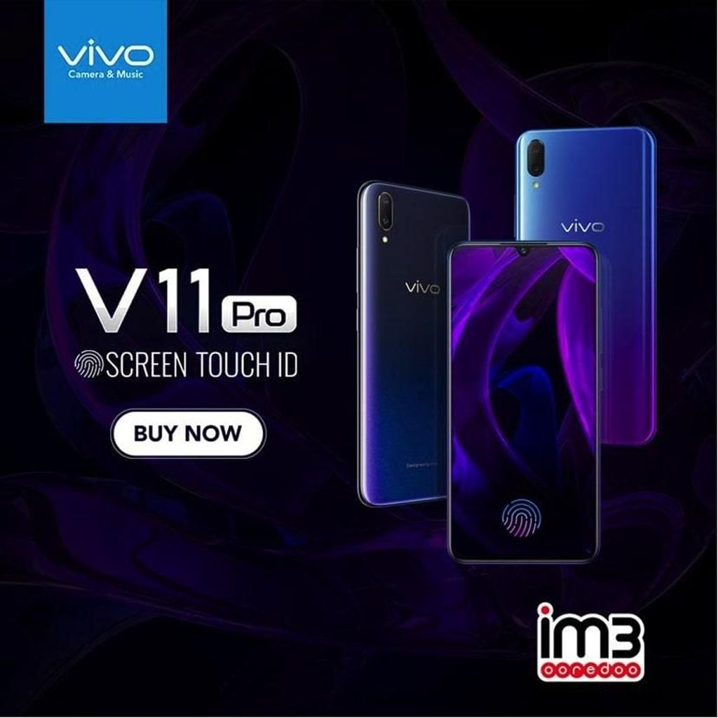 Canggihnya Vivo V11 Pro yang Punya Teknologi Screen Touch ID