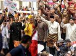 Kenakan Pakaian Adat, Begini Potret Pendukung Jokowi dan Prabowo