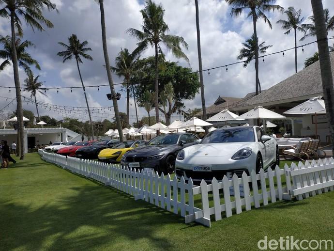 Prestige Image Motorcars mengadakan launching mobil mewah ferrari portofino di Finn Vip Beach Club, Kuta Utara, Bali. Foto: Ridwan Arifin