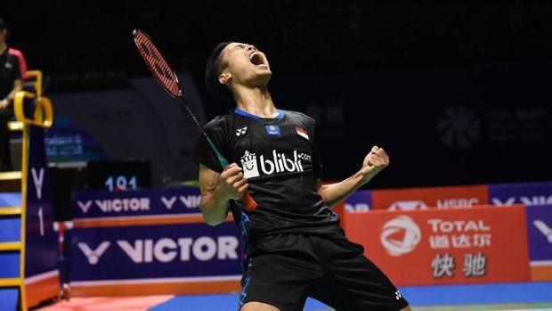 Anthony Sinisuka Ginting raih gelar Indonesia Masters dan China Terbuka sepanjang 2018.