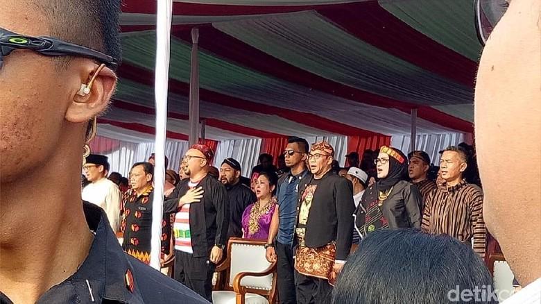 Momen Titiek-Didit Temani Prabowo Deklarasi Kampanye Damai