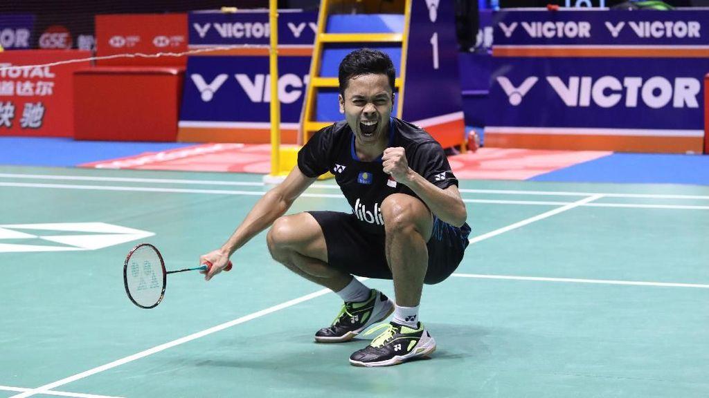 Detik-detik Anthony Ginting Juara China Open 2018