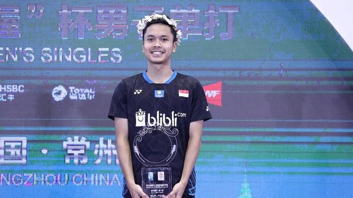 Anthony Ginting Jawara China Terbuka 2018 meski sebelumnya dibully. (Foto: Dok. Hujmas PBSI)