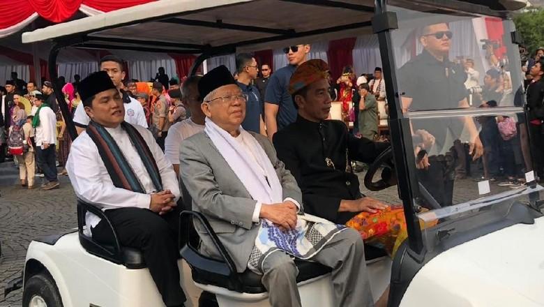 Karnaval Kampanye Damai: Jokowi Adat Bali, Maruf Amin Celana Panjang
