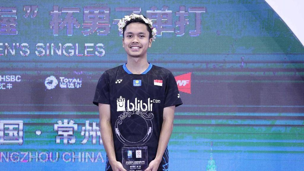Juara China Terbuka, Anthony Ginting: Puji Tuhan