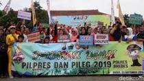 Di Brebes, Deklarasi Kampanye Damai Dengan Senam Bersama