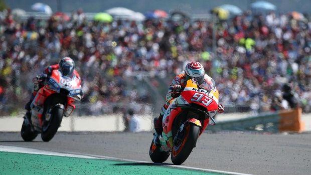 Marc Marquez meraih kemenangan di MotoGP Aragon.