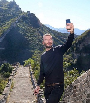 Foto: Tembok China dan Ketampanan David Beckham