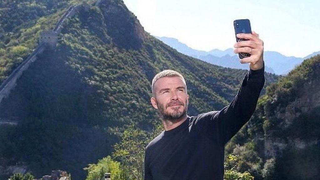 Foto: Tembok China dan Ketampanan David Beckham