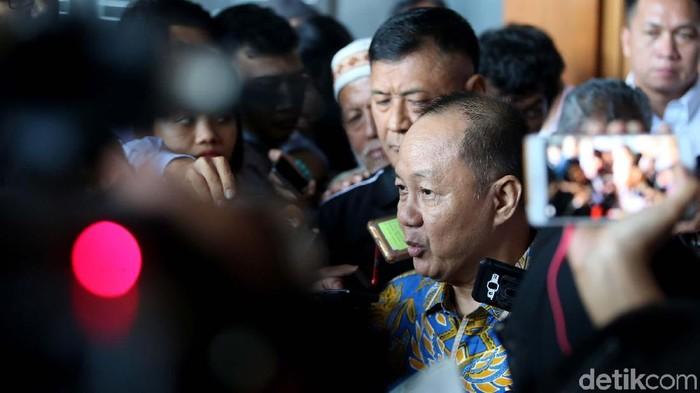 Mantan Ketua BPPN Syafruddin Arsyad Temenggung jalani sidang vonis di Pengadilan Tipikor, Jakarta. Syafruddin divonis 13 tahun penjara dalam kasus BLBI.