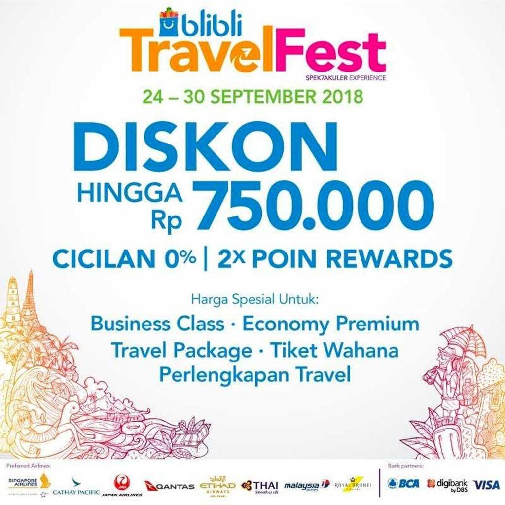 Dear Traveler, Blibli Bikin Online Travel Fair