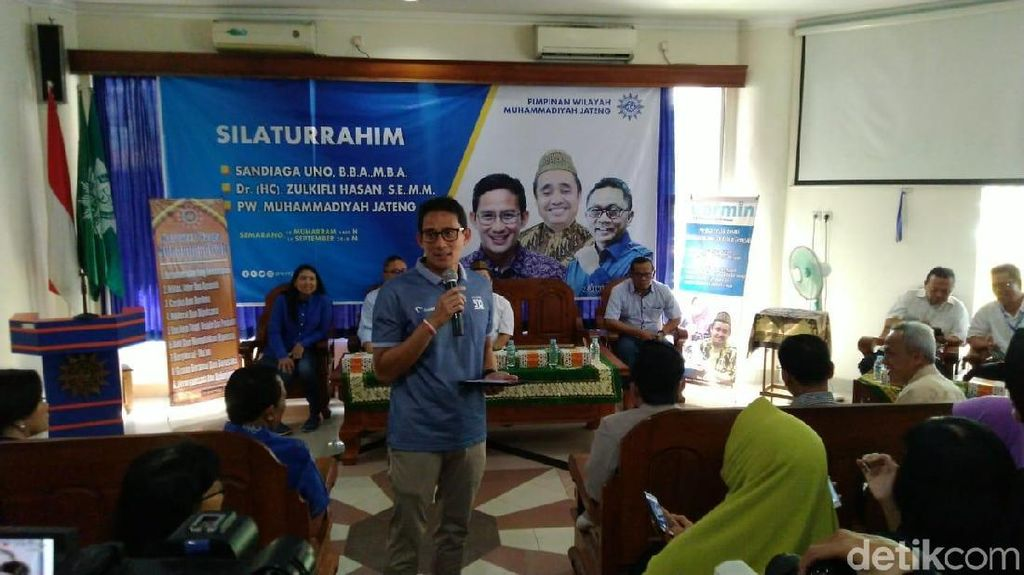 Datangi Kantor Muhammadiyah Jateng, Sandiaga Janji Benahi BPJS