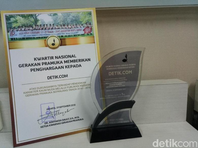 Kwarnas Gerakan Pramuka Beri Penghargaan ke detikcom