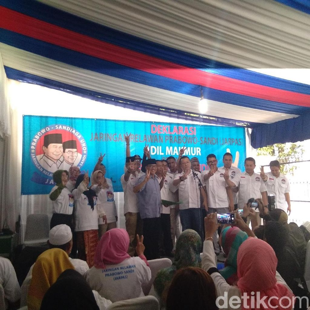 Relawan Jarpras Deklarasi Dukung Prabowo-Sandiaga