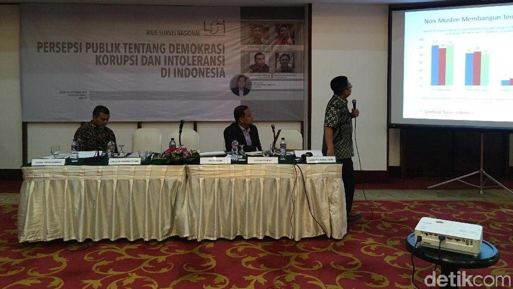 Survei LSI: Polisi, Pengadilan dan PNS Instansi Paling Korup