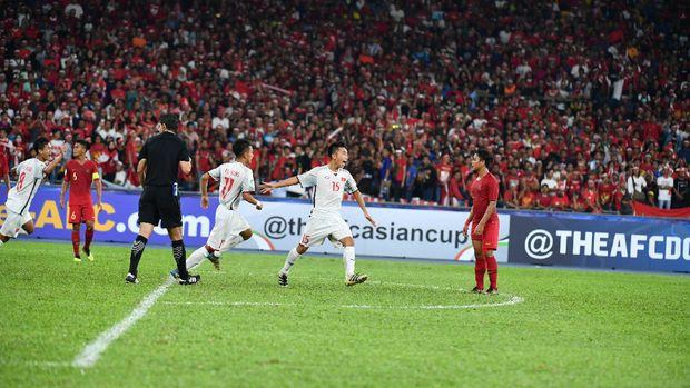 Animo suporter Timnas Indonesia U-16 tinggi di Malaysia.