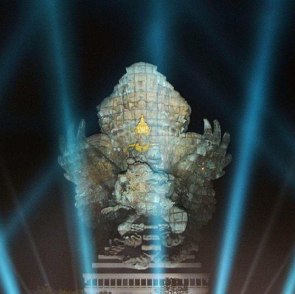 Pasca Diresmikan, Patung Garuda Wisnu Kencana Megah Banget