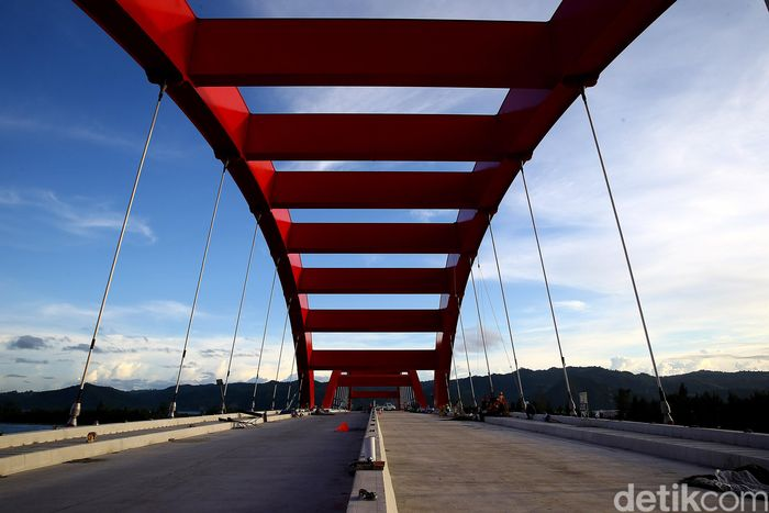 Begini penampakan terkini proyek jembatan Holtekamp di Papua.