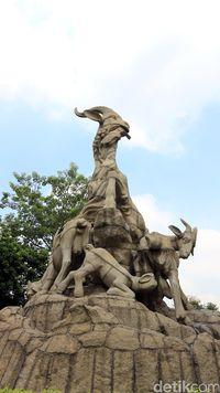 Patung 5 kambing (Andini/detikTravel)