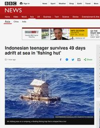 Kisah Aldi 'Life of Pi' Terombang-ambing di Laut 49 Hari Mendunia