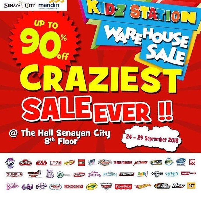 Kidz Station Warehouse Sale. Foto: Dok. Senayan City
