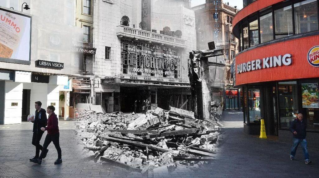Potret Kolase Kota London Dulu dan Sekarang