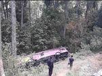 Polisi Sebut Lokasi Kecelakaan Bus SMK 1 Karanganyar Memang Rawan