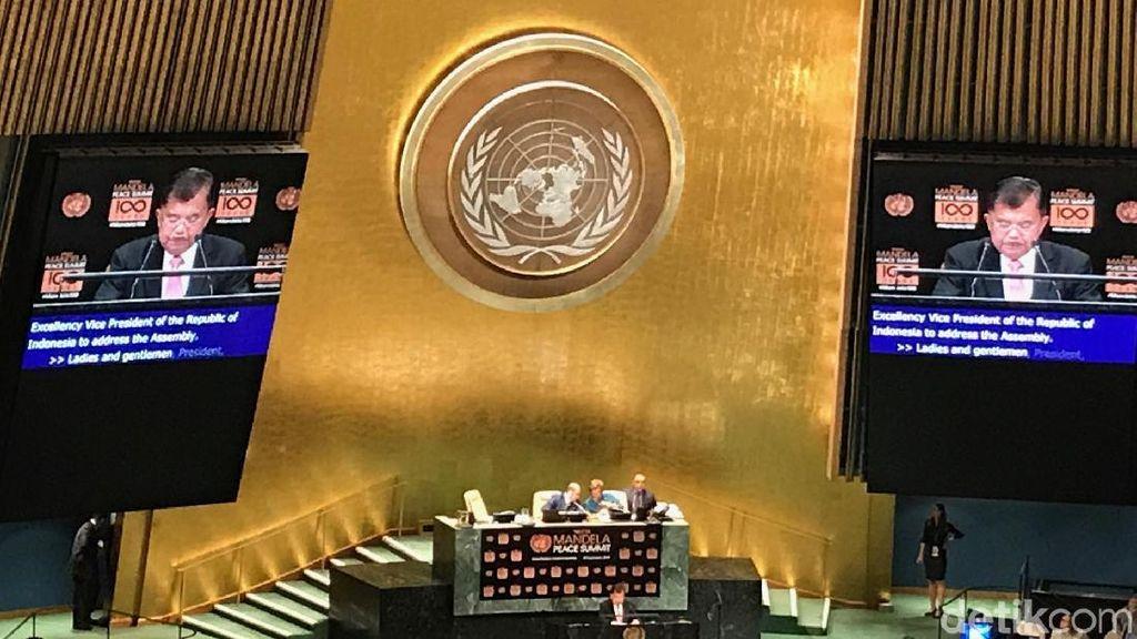 JK: Nelson Mandela Ajarkan Kita Nilai Keadilan dan Rekonsiliasi