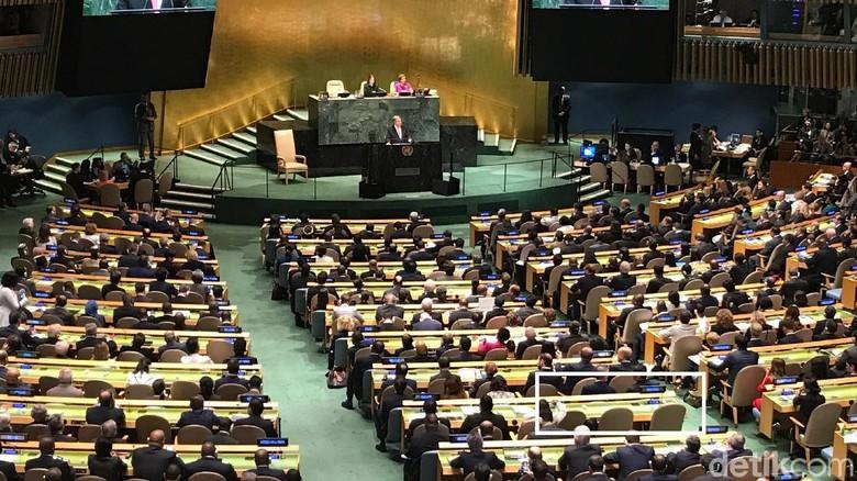 Pembukaan Sidang Umum PBB Dimulai, Kursi Venezuela Tampak Kosong