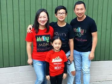 Malea bersama keluarga tercinta! Sukses selalu ya Malea. (Foto: Instagram/armantjandrawidjaja)