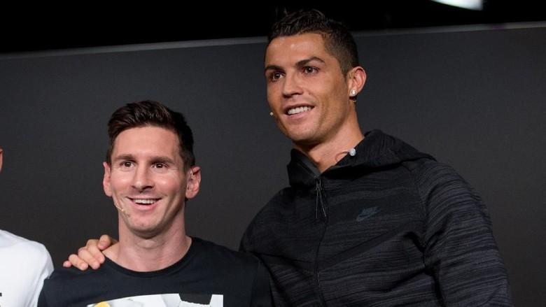 Lionel Messi dan Cristiano Ronaldo. (Foto: Philipp Schmidli/Getty Images)