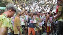 Inilah Keseruan Pesta Warna di Danau Limboto