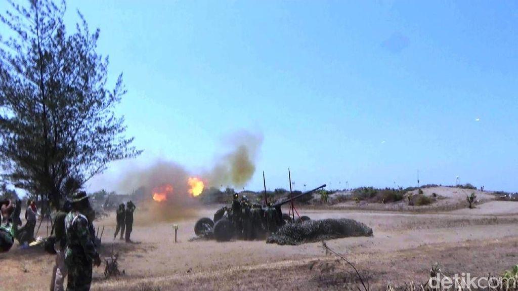 Melihat Prajurit Arhanud Latihan Menembak Atasi Serangan Udara