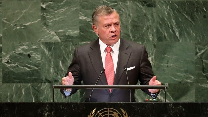 Jordans King Abdullah II ibn Al Hussein addresses the 73rd session of the United Nations General Assembly at U.N. headquarters in New York, U.S., September 25, 2018. REUTERS/Carlo Allegri