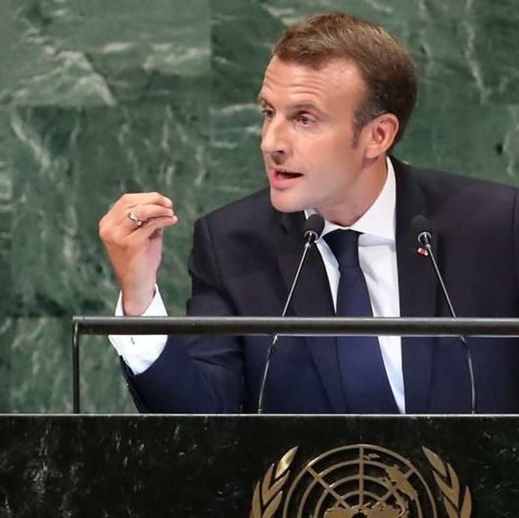 Macron Pidato Berapi-api di PBB, Tolak Nasionalisme ala Trump