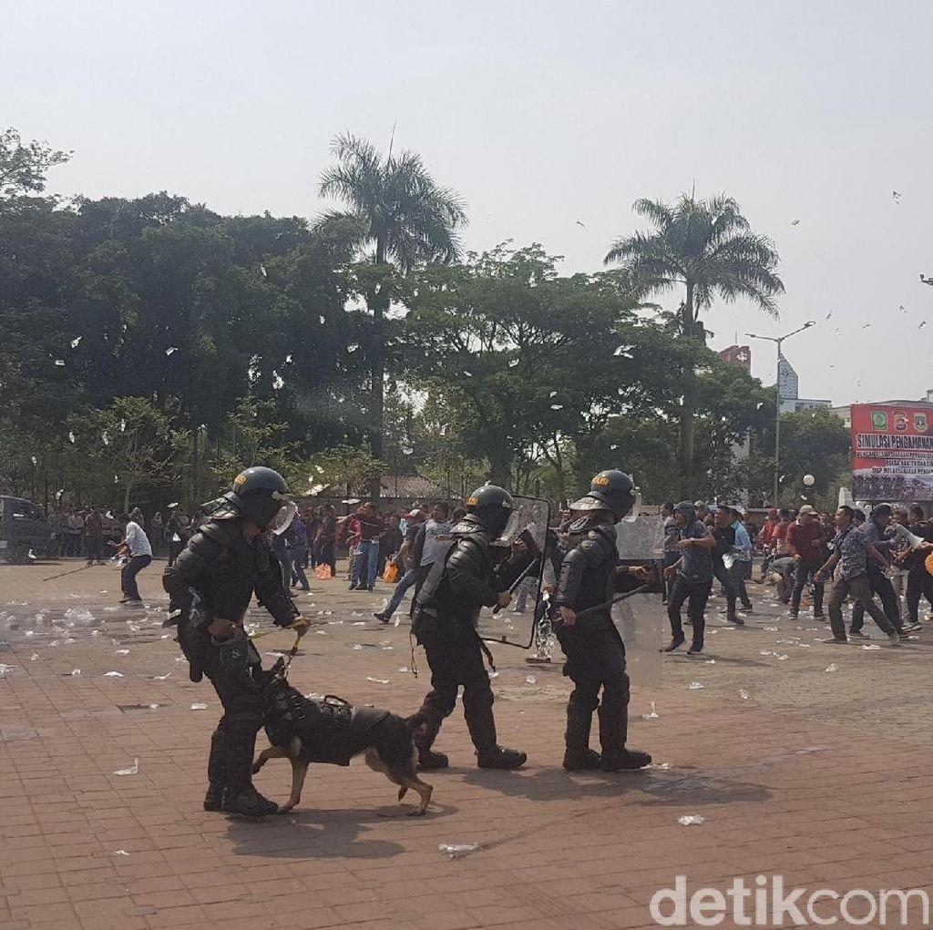 Polda Banten Gelar Simulasi Pengamanan Pemilu