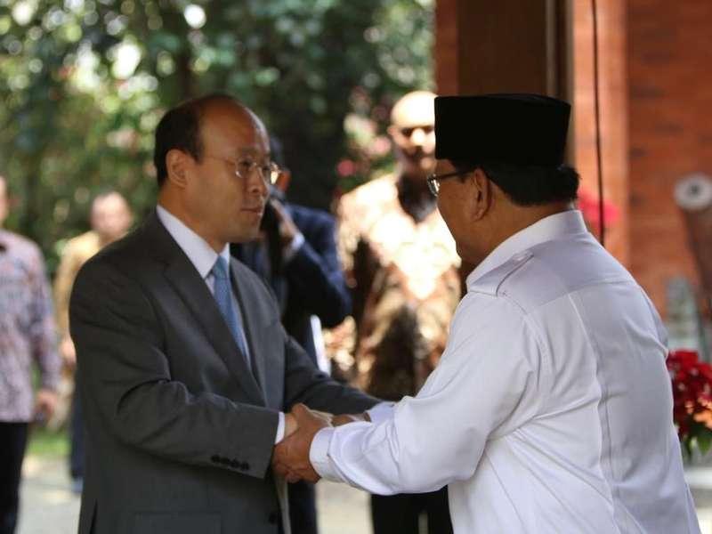 Dubes China Bertemu Prabowo di Hambalang, Ini yang Dibahas
