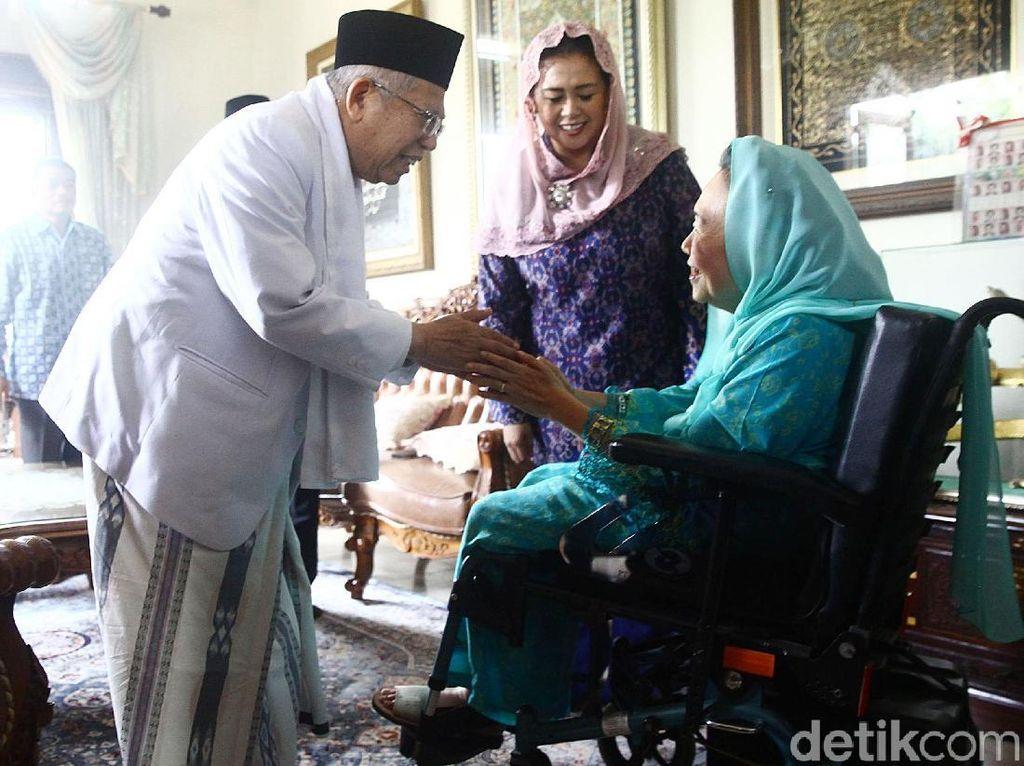 Video Maruf Amin Sambangi Istri Gus Dur di Ciganjur