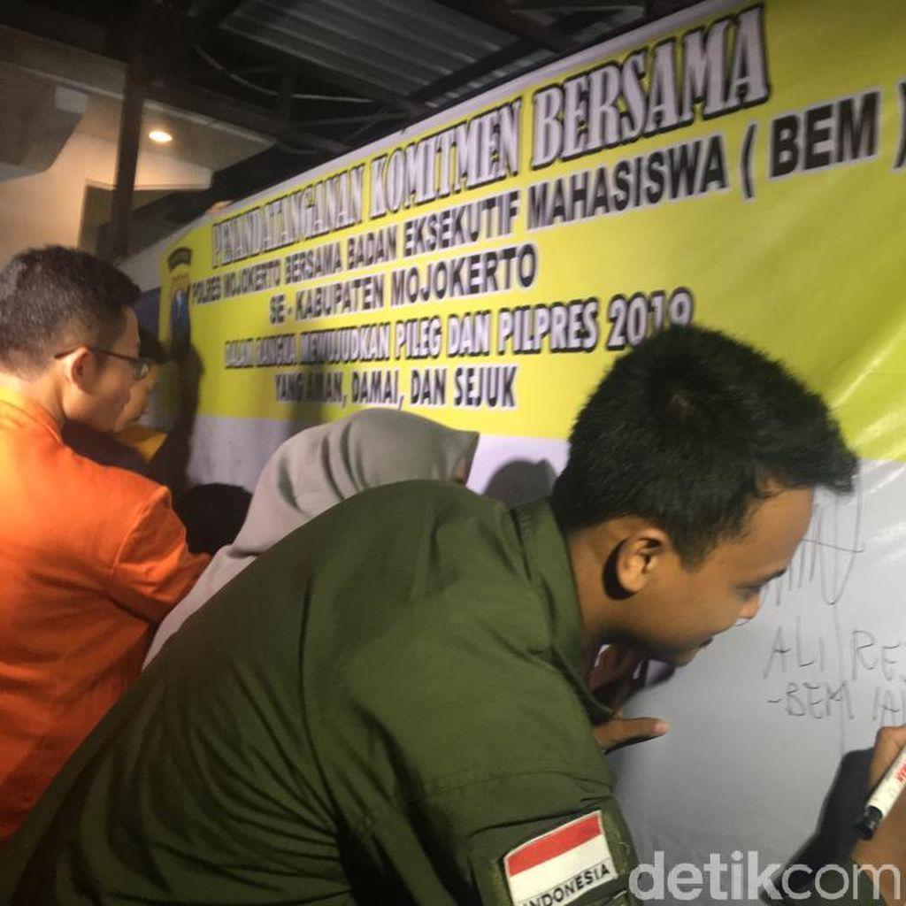 Mahasiswa Diminta Ikut Jaga Keamanan Pemilu 2019 di Mojokerto