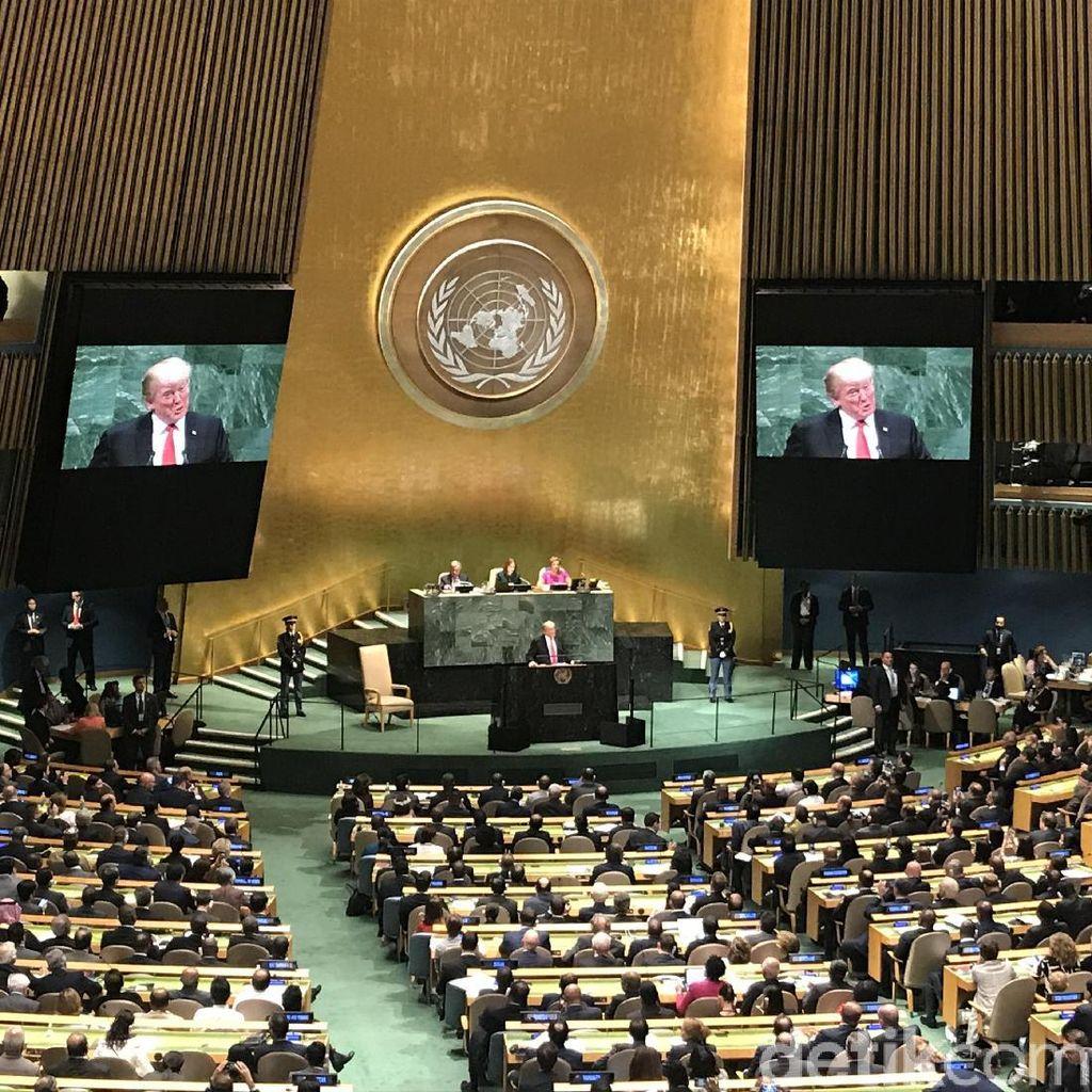 Jadi Tuan Rumah, Trump Datang Telat ke Sidang Umum PBB