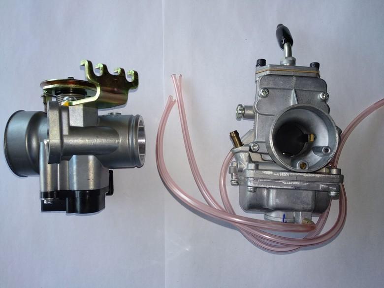 Motor karburator vs motor injeksi. Foto: Luthfi Anshori