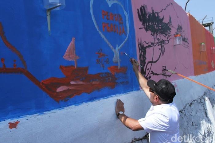 Mural karya Gubernur Jabar Ridwan Kamil. (Foto: Wisma Putra/detikcom)